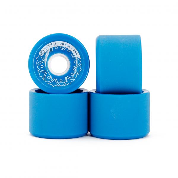 BTFL longboards wheels set - 70 x 51 mm - 78A - blue