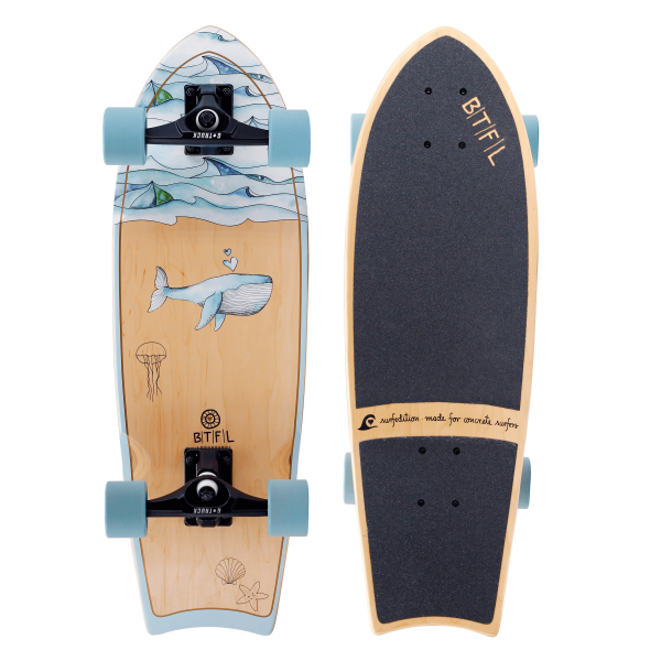 BTFL MOBY - surfskate longboard small complete