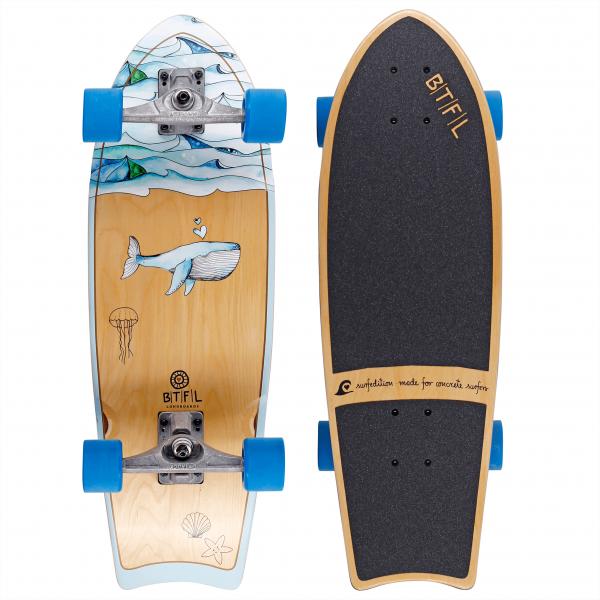 BTFL MOBY - Surfskate Board klein komplett