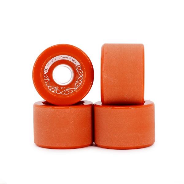 BTFL Longboard wheels set - 75 x 52 MM - red