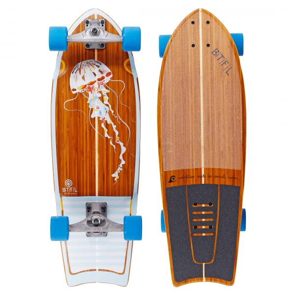 BTFL AURELIA - surfskate board bamboo complete