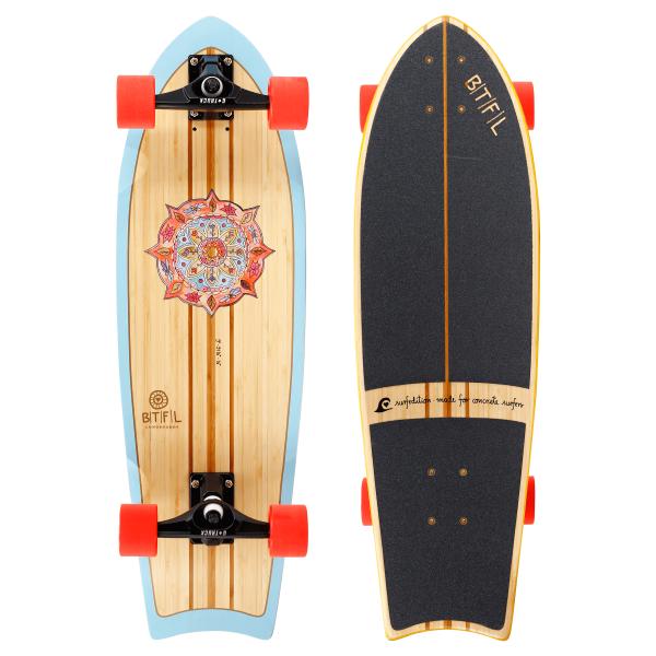 BTFL ZOEY - Surfskate Board Bambus komplett